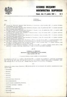 Dziennik Urzędowy Województwa Słupskiego. Nr 8/1987