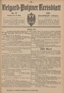 Belgard-Polziner Kreisblatt, 1913, Nr 37