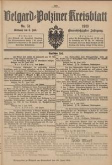 Belgard-Polziner Kreisblatt, 1913, Nr 51