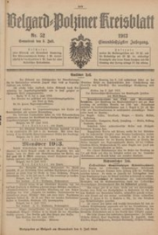 Belgard-Polziner Kreisblatt, 1913, Nr 52