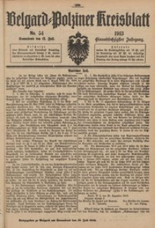 Belgard-Polziner Kreisblatt, 1913, Nr 54
