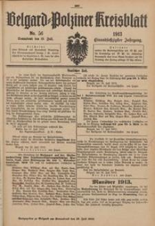 Belgard-Polziner Kreisblatt, 1913, Nr 56