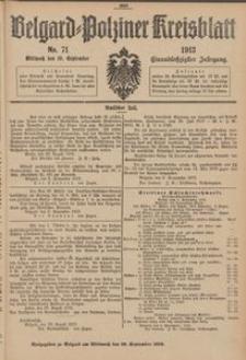 Belgard-Polziner Kreisblatt, 1913, Nr 71
