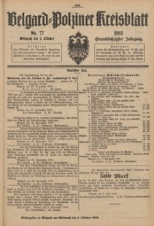 Belgard-Polziner Kreisblatt, 1913, Nr 77