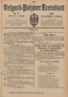 Belgard-Polziner Kreisblatt, 1913, Nr 87