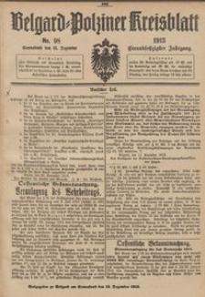 Belgard-Polziner Kreisblatt, 1913, Nr 98