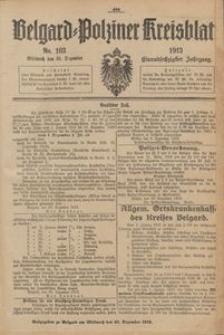 Belgard-Polziner Kreisblatt, 1913, Nr 103