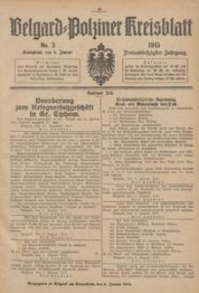 Belgard-Polziner Kreisblatt, 1915, Nr 3