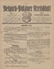 Belgard-Polziner Kreisblatt, 1927, Nr 1
