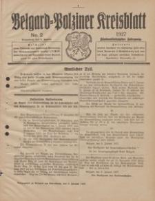 Belgard-Polziner Kreisblatt, 1927, Nr 2