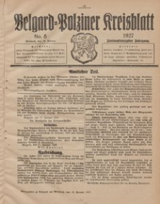 Belgard-Polziner Kreisblatt, 1927, Nr 5