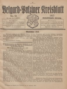 Belgard-Polziner Kreisblatt, 1927, Nr 13