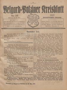 Belgard-Polziner Kreisblatt, 1927, Nr 25