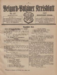 Belgard-Polziner Kreisblatt, 1927, Nr 27
