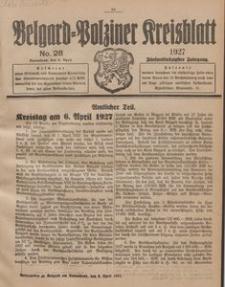 Belgard-Polziner Kreisblatt, 1927, Nr 28