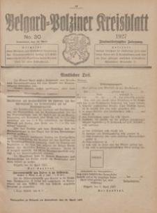 Belgard-Polziner Kreisblatt, 1927, Nr 30
