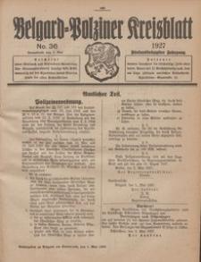 Belgard-Polziner Kreisblatt, 1927, Nr 36