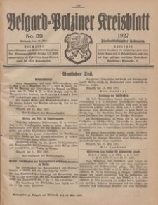 Belgard-Polziner Kreisblatt, 1927, Nr 39
