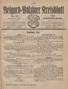 Belgard-Polziner Kreisblatt, 1927, Nr 40