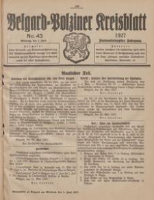 Belgard-Polziner Kreisblatt, 1927, Nr 43
