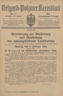 Belgard-Polziner Kreisblatt, 1915, Nr 11