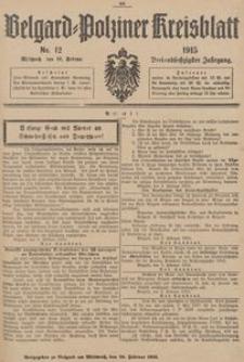 Belgard-Polziner Kreisblatt, 1915, Nr 12