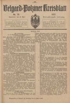 Belgard-Polziner Kreisblatt, 1915, Nr 29