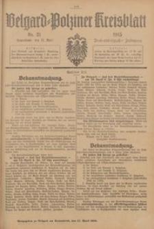 Belgard-Polziner Kreisblatt, 1915, Nr 31