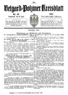 Belgard-Polziner Kreisblatt, 1915, Nr 49