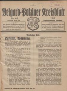 Belgard-Polziner Kreisblatt, 1927, Nr 44