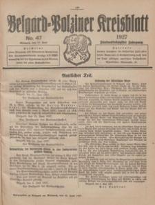 Belgard-Polziner Kreisblatt, 1927, Nr 47
