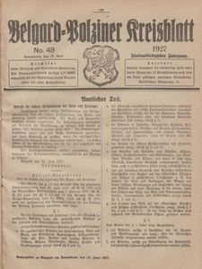 Belgard-Polziner Kreisblatt, 1927, Nr 48