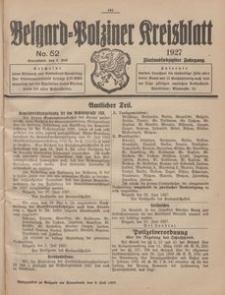 Belgard-Polziner Kreisblatt, 1927, Nr 52