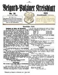 Belgard-Polziner Kreisblatt, 1923, Nr 26
