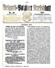 Belgard-Polziner Kreisblatt, 1923, Nr 27