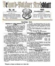Belgard-Polziner Kreisblatt, 1923, Nr 30