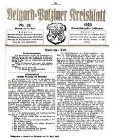 Belgard-Polziner Kreisblatt, 1923, Nr 32