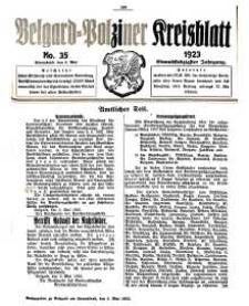 Belgard-Polziner Kreisblatt, 1923, Nr 35
