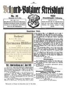 Belgard-Polziner Kreisblatt, 1923, Nr 39
