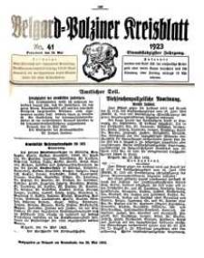 Belgard-Polziner Kreisblatt, 1923, Nr 41