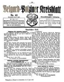 Belgard-Polziner Kreisblatt, 1923, Nr 45