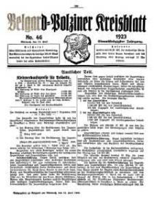 Belgard-Polziner Kreisblatt, 1923, Nr 46