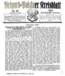 Belgard-Polziner Kreisblatt, 1923, Nr 53
