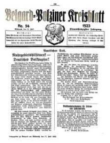 Belgard-Polziner Kreisblatt, 1923, Nr 54
