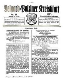 Belgard-Polziner Kreisblatt, 1923, Nr 58