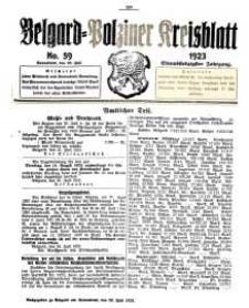 Belgard-Polziner Kreisblatt, 1923, Nr 59