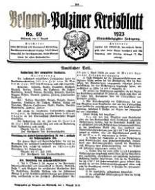 Belgard-Polziner Kreisblatt, 1923, Nr 60
