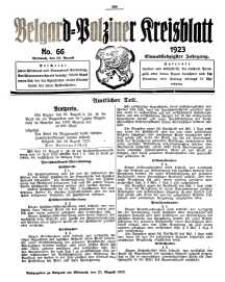 Belgard-Polziner Kreisblatt, 1923, Nr 66