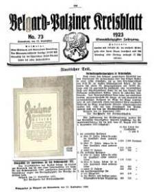 Belgard-Polziner Kreisblatt, 1923, Nr 73