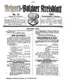 Belgard-Polziner Kreisblatt, 1923, Nr 74